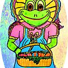 MS FROGETTA FROG ON EASTER MORN by JoAnnHayden