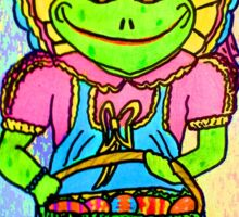 MS FROGETTA FROG ON EASTER MORN Sticker