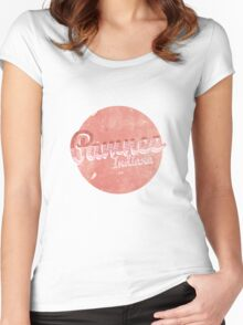 PAWNEE INDIANA Women's Fitted Scoop T-Shirt