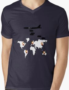 Wall St. Bombing Mens V-Neck T-Shirt