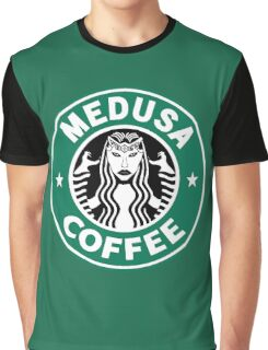 Medusa Coffee - Starbucks Parody, SMITE! Graphic T-Shirt