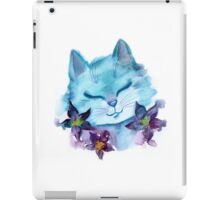 Cat and flowers iPad Case/Skin