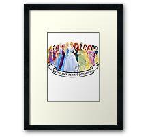 Princesses Against Patriarchy Framed Print