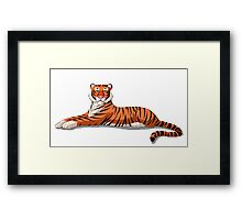 Bengal Tiger Isolated on White Background Framed Print