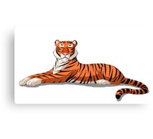 Bengal Tiger Isolated on White Background Canvas Print