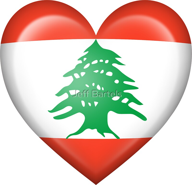 Grungy I Love Lebanon Heart Flag  NeatoShop