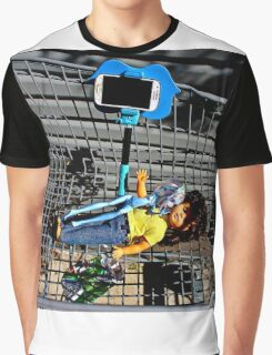 Shopping Trolley Pass Out Selfie Dolls  Graphic T-Shirt