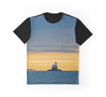 Flock Of Birds Flying Above Bug Light | East Marion, New York Graphic T-Shirt