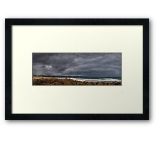 Stormy sky at Maslin Beach, South Australia Framed Print