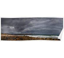 Stormy sky at Maslin Beach, South Australia Poster
