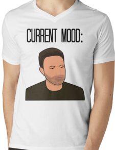 Sad Ben Affleck Cartoon Mens V-Neck T-Shirt