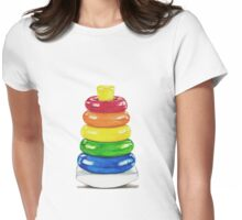 Retro stacking rings. Womens Fitted T-Shirt