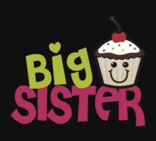 Big sister cupcake One Piece - Short Sleeve