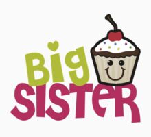 Big sister cupcake One Piece - Short Sleeve