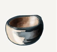 Wooden bowl by Azellah