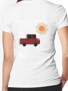 The Red Truck Women's Fitted V-Neck T-Shirt