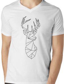Geometric Stag Mens V-Neck T-Shirt