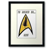 Kiwi Style Silver Fern Star Trek Delta. Framed Print