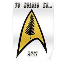 Kiwi Style Silver Fern Star Trek Delta. Poster