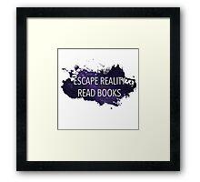 Escape Reality, Read Books (Stars) Framed Print