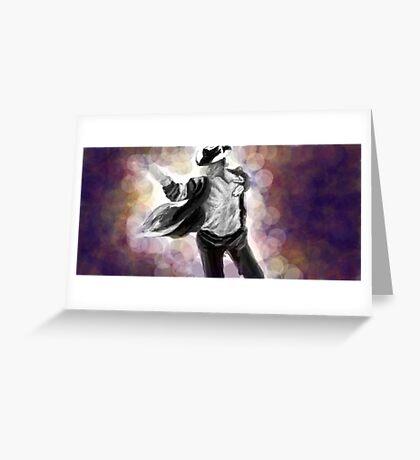 illustration of Michael Jackson Greeting Card