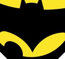 mixed super hero logo Sticker
