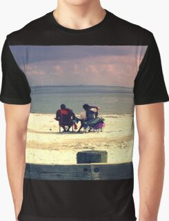 white tropical beach Graphic T-Shirt