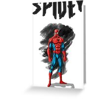 spidey design t-shirt Greeting Card