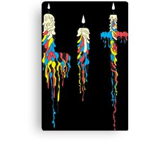 Lit (Drunken Candles) Colored Ver. Canvas Print