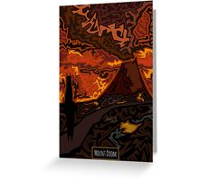 Mount Doom Scenery Greeting Card