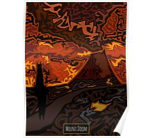 Mount Doom Scenery Poster