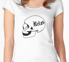 Relax skull Women's Fitted Scoop T-Shirt