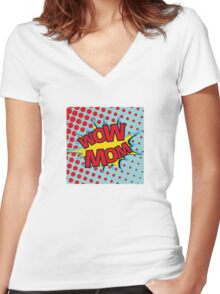 WoW MoM reversible Women's Fitted V-Neck T-Shirt