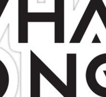 What so not - logo Sticker
