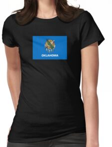 Oklahoma Flag - USA State T-Shirt Sticker Duvet Cover Womens Fitted T-Shirt
