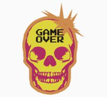 GAME OVER punk skull Kids Tee