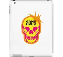 GAME OVER punk skull iPad Case/Skin