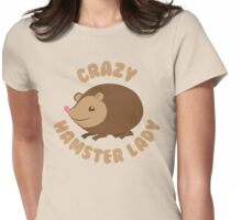 Crazy hamster lady (circle) Womens Fitted T-Shirt