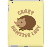 Crazy hamster lady (circle) iPad Case/Skin