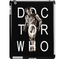 Doctor Who - Cyberman Title [Black] iPad Case/Skin