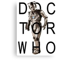 Doctor Who - Cyberman Title [White] Canvas Print