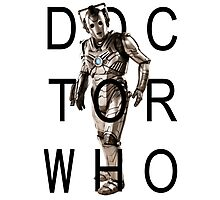 Doctor Who - Cyberman Title [White] Photographic Print