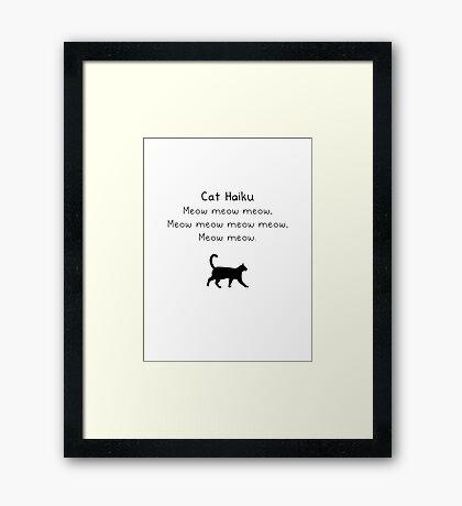 Cat Haiku Framed Print