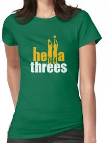 Hella Threes Womens Fitted T-Shirt