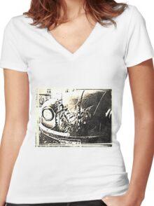 Vintage Vw Women's Fitted V-Neck T-Shirt