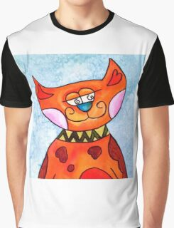 Scatty Cat Graphic T-Shirt