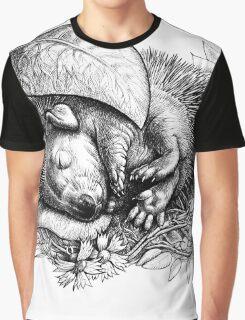 Baby hedgehog sleeping Graphic T-Shirt