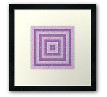 Purple and Pink Square Pastel Pattern Framed Print