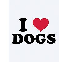 I Love Dogs Quote Photographic Print