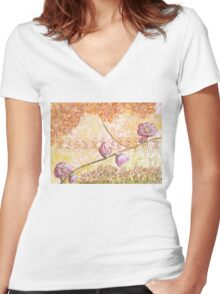 Easter time 2 Women's Fitted V-Neck T-Shirt